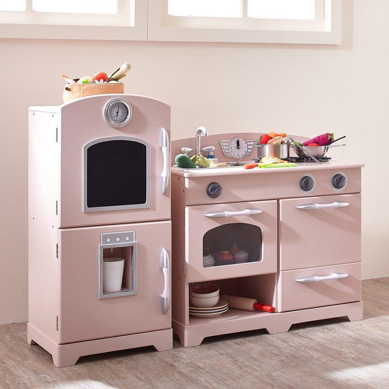 Teamson Kids 2 Piece Wooden Play Kitchen Set Amp Reviews
