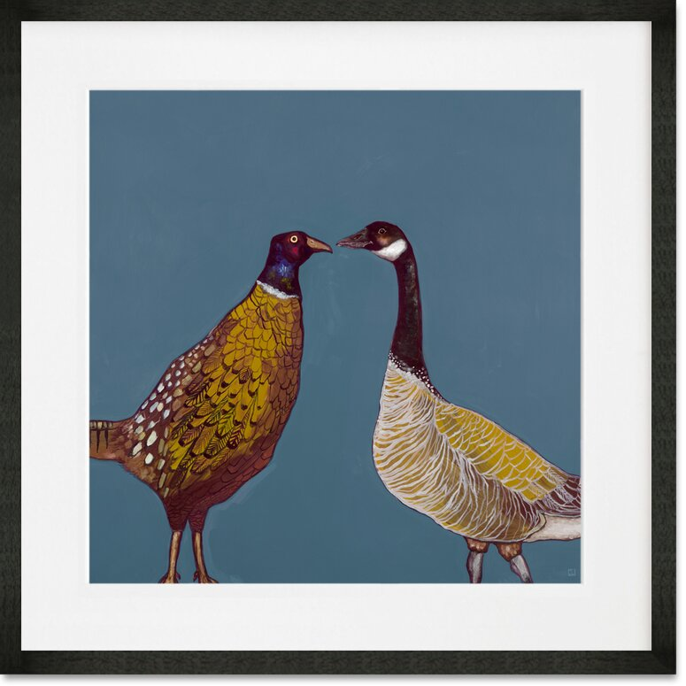 Alcott Hill Pheasant And Goose Framed Graphic Art Print Wayfair