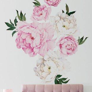 Big pink flower wall decals wayfair save mightylinksfo