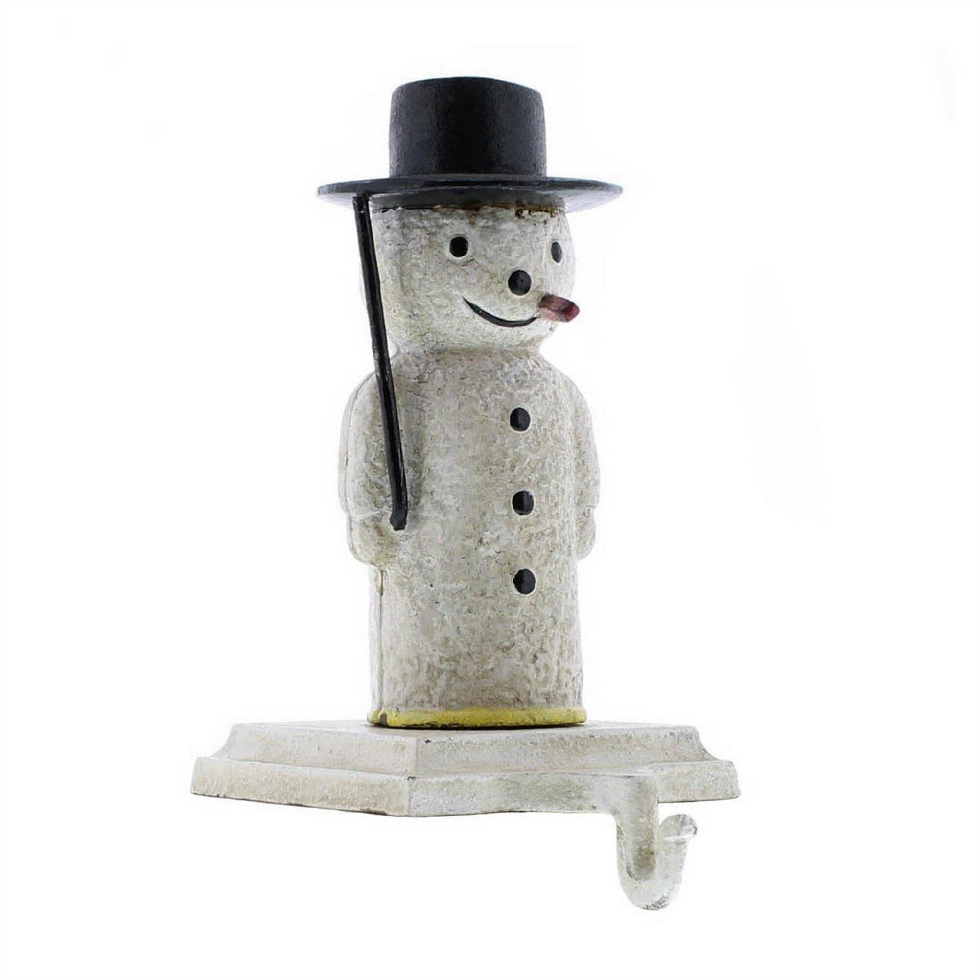 The Holiday Aisle Nansi Metal Frame Snowman Shape Stocking Holder Wayfair