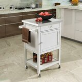 Beckwourth Utility Rolling Kitchen Cart Stainless Steel by Latitude Run