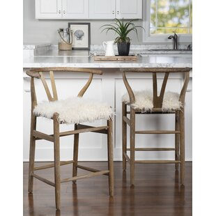 Banda 24 Wishbone Bar Stool Bungalow Rose