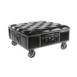 Remylina Traditional Square Tufted Upholstered Storage Bench