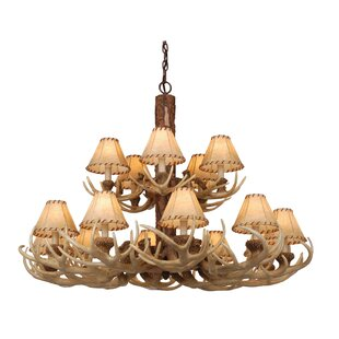 Loon Peak Portillo 15-Light Shaded Chandelier