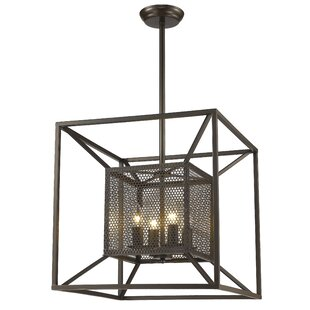 Gracie Oaks Whyalla 4-Light Square/Rectangle Chandelier