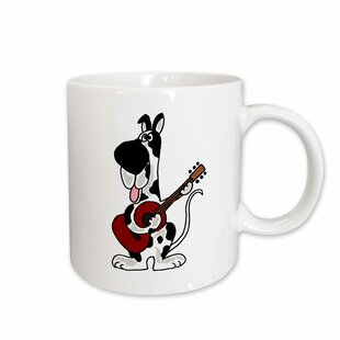 Harlequin Great Dane Playing the Guitar Coffee Mug
