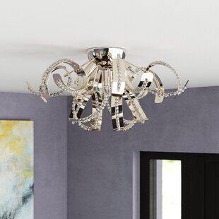 Orren Ellis Contreras 4-Light Flush Mount