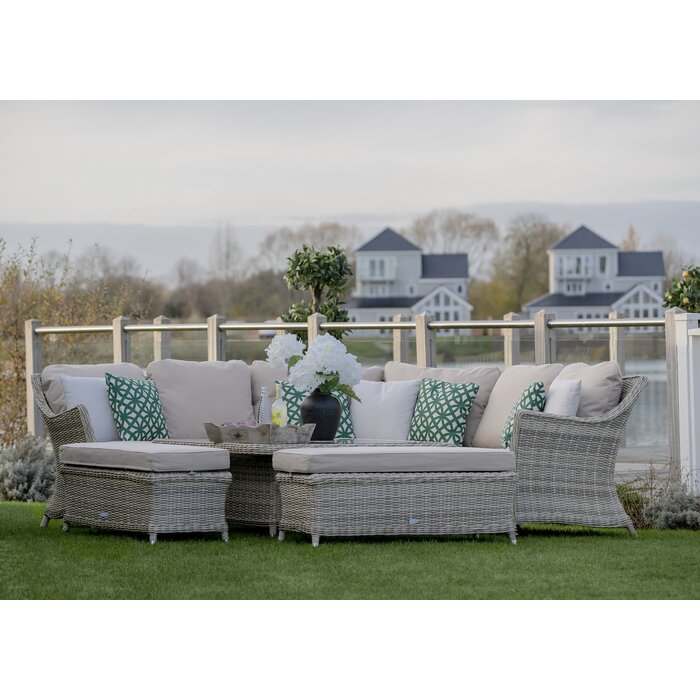 buy popular 014fe 4e367 Ridgemoor 9 Seater Rattan Corner Sofa Set