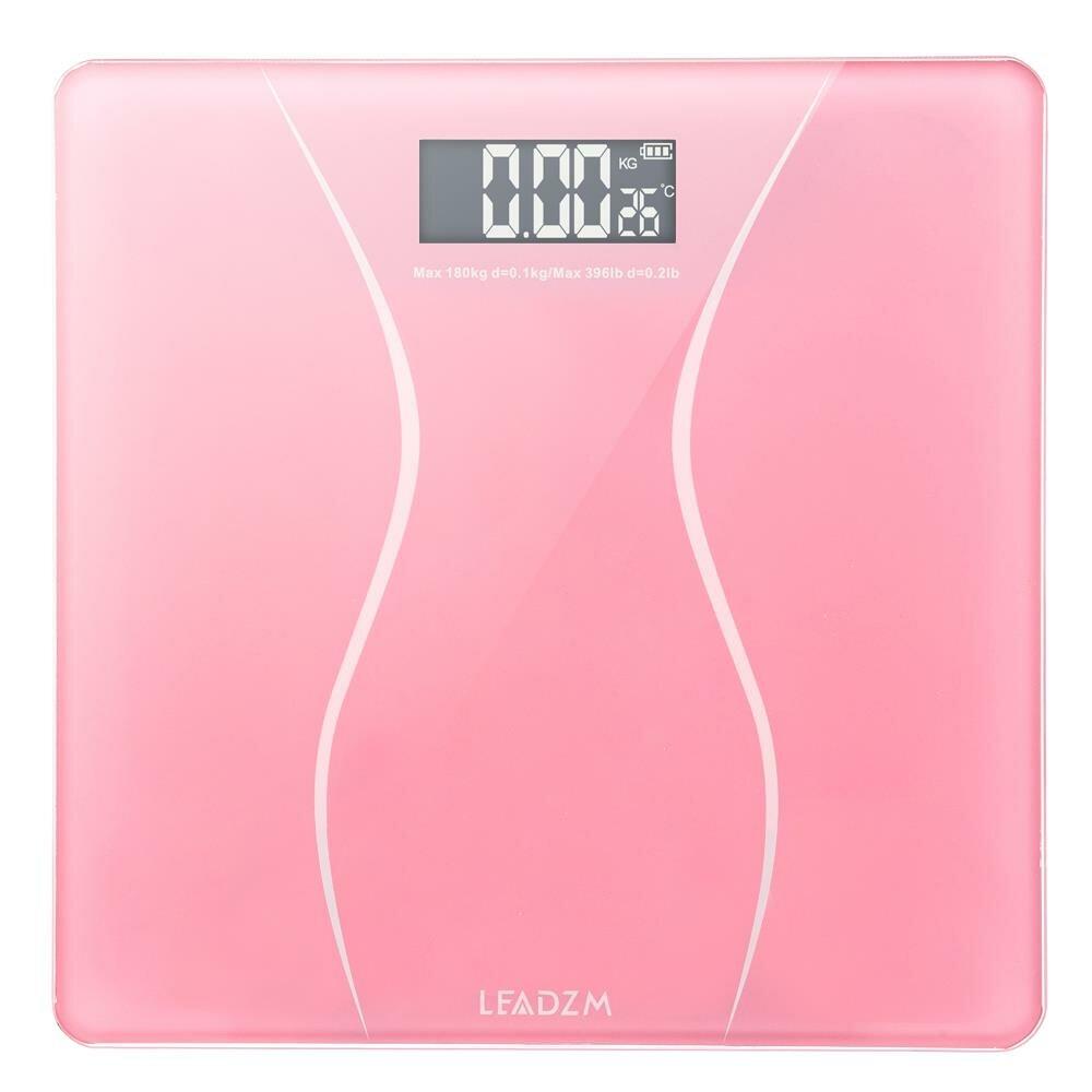 Glass Digital Bathroom Scale Auto on//off 330lb Health Weight Modern Sleek