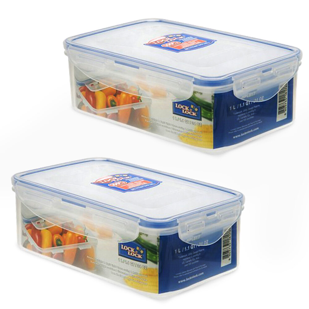 Lock U0026 Lock Rectangular 33.8 Oz. Food Storage Container | Wayfair