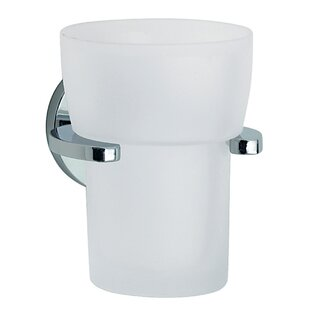 Smedbo Loft Frosted Glass Tumbler and Tumbler Holder