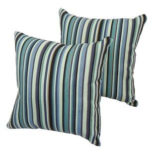 Patchway Stripe Indoor/Outdoor Throw Pillow (Set of 2)