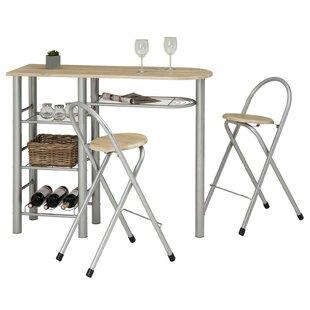 Bar Set With Wine Storage By Symple Stuff