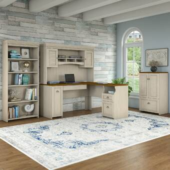 Beachcrest Home Oakridge 2 Piece Office Set with Hutch ...