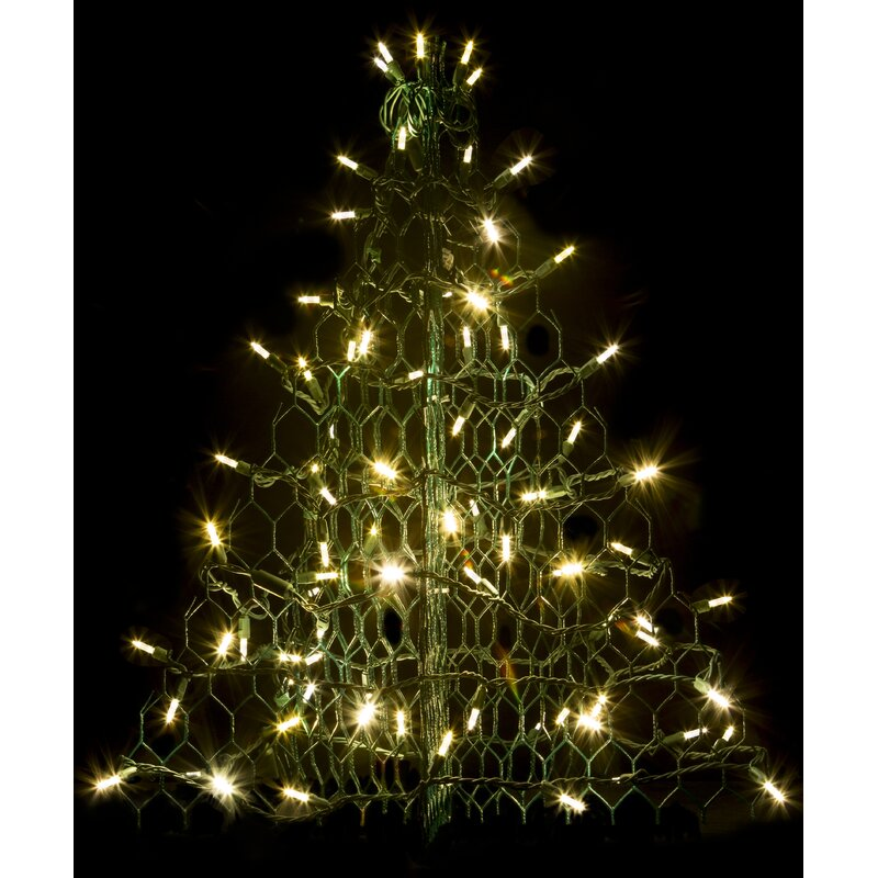 Crab Pot Christmas Tree With 80 Led Mini Lights