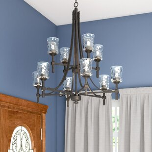 Three Posts Berns 10-Light Shaded Chandelier