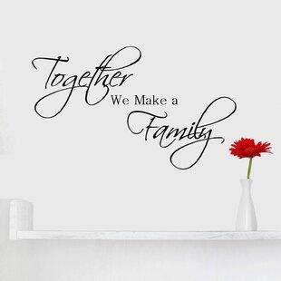 Inspirational Family Quotes Wayfair