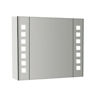Cora 65cm X 60cm Surface Mount Mirror Cabinet With LED Lighting By Wade Logan