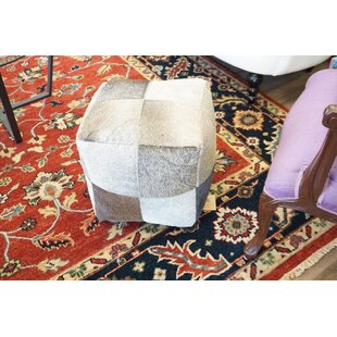 Asmus Leather Pouf By Union Rustic