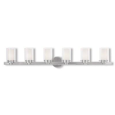 Latitude Run Levi 6-Light Vanity Light Finish: Polished Chrome