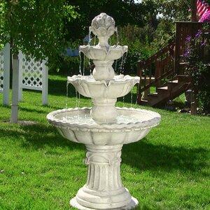 Fiberglass 4-Tier Electric Water Fountain