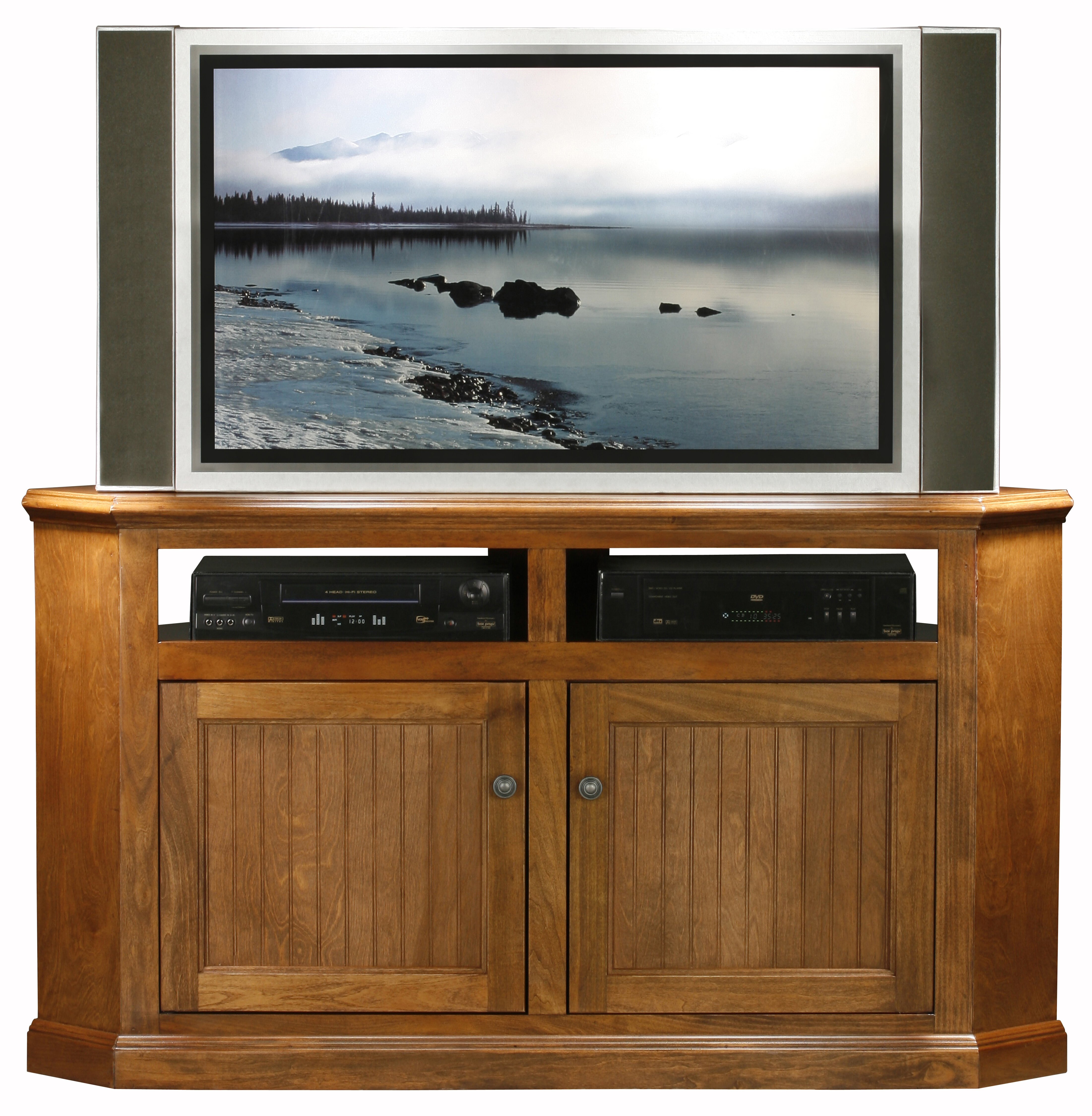 Picture of: Coconut Creek Solid Wood Corner Tv Stand For Tvs Up To 65 Reviews Joss Main