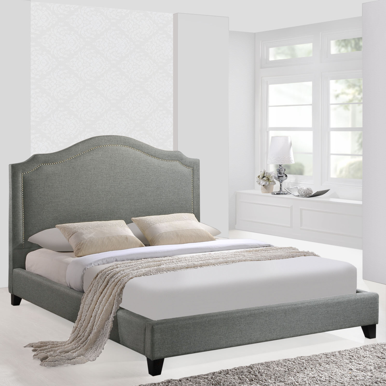 modway queen upholstered platform bed reviews wayfair