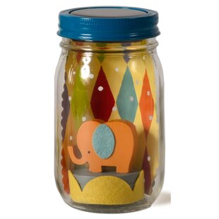 Tree by Kerri Lee Elephant Mason Jar Solar Night Light