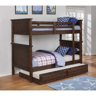 Savings Serra Twin Bunk Bed with Trundle by Harriet Bee Reviews (2019) & Buyer's Guide