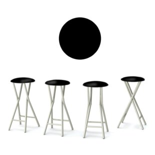 Best of Times Martini 30'' Patio Bar Stool with Cushion (Set of 4)