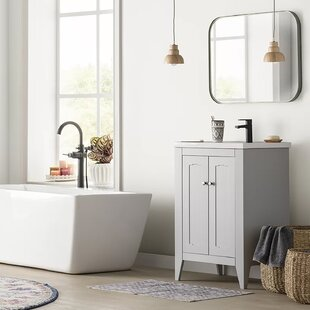 Review Hailie 813mm Free-Standing Single Vanity Unit