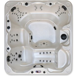 Aurora Lounger 5-Person 85-Jet Spa With Waterfall By American Spas