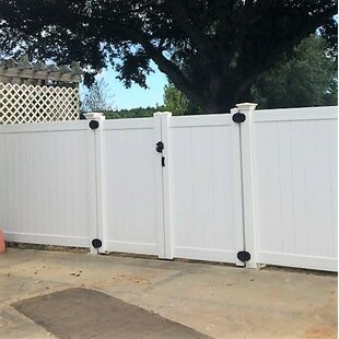 6 Ft. H X 8 Ft. W Rainier Privacy Fence Vinyl Gate By Vinyl Fence Wholesaler