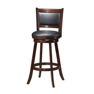 Red Barrel Studio Tuthill Wooden Swivel Bar Stool