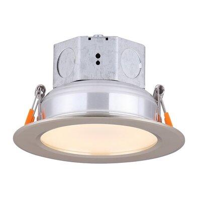 "Dimmable 5.5"""" LED Integrated Semi Flush Mount Amax Lighting Finish: Nickel -  LED-SR4SP/NKL"