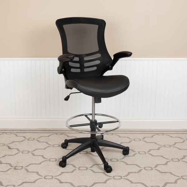 Ebern Designs Ergonomic Mesh Drafting Chair Reviews Wayfair