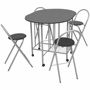 Galligan Folding Dining Set With 4 Chairs By Brayden Studio