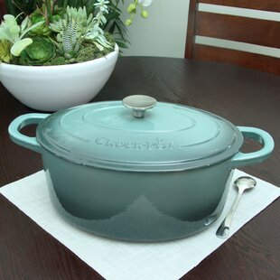 Artisan 7 Qt. Enameled Cast Iron Oval Dutch Oven