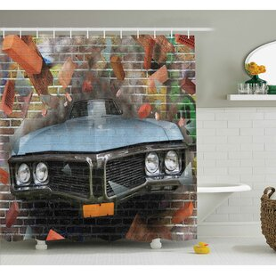 Ervin Graffiti Style Street Art Shower Curtain Set