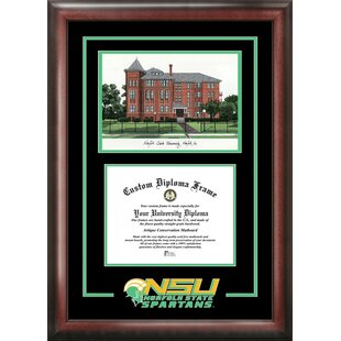 NCAA Norfolk State Spartans Spirit Graduate Diploma with Campus Images Lithograph Frame By Campus Images