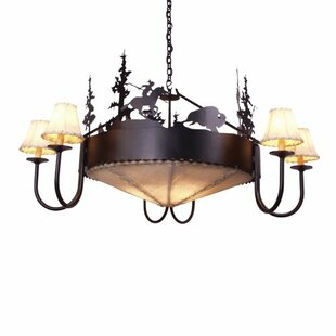 Steel Partners Buffalo 9-Light Shaded Chandelier