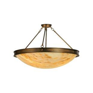 Meyda Tiffany Dionne 3-Light Semi-Flush Mount