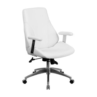 Latitude Run Marlboro Executive Swivel Mid-Back Leather Desk Chair