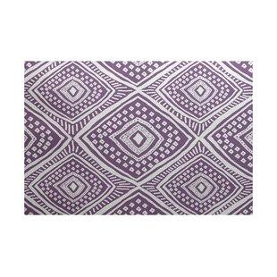 Abbie Purple/White Indoor/Outdoor Area Rug ByEbern Designs