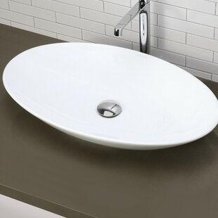 Shop for Lavender Classically Redefined Ceramic Oval Vessel Bathroom Sink By DECOLAV