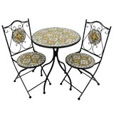 Glasscock 3 Piece Bistro Set