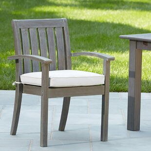 Rossi Stacking Patio Dining Chair with Cushion by Birch Lane™ Heritage