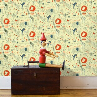 Circus 15' x 27 Wildlife Wallpaper by Loboloup