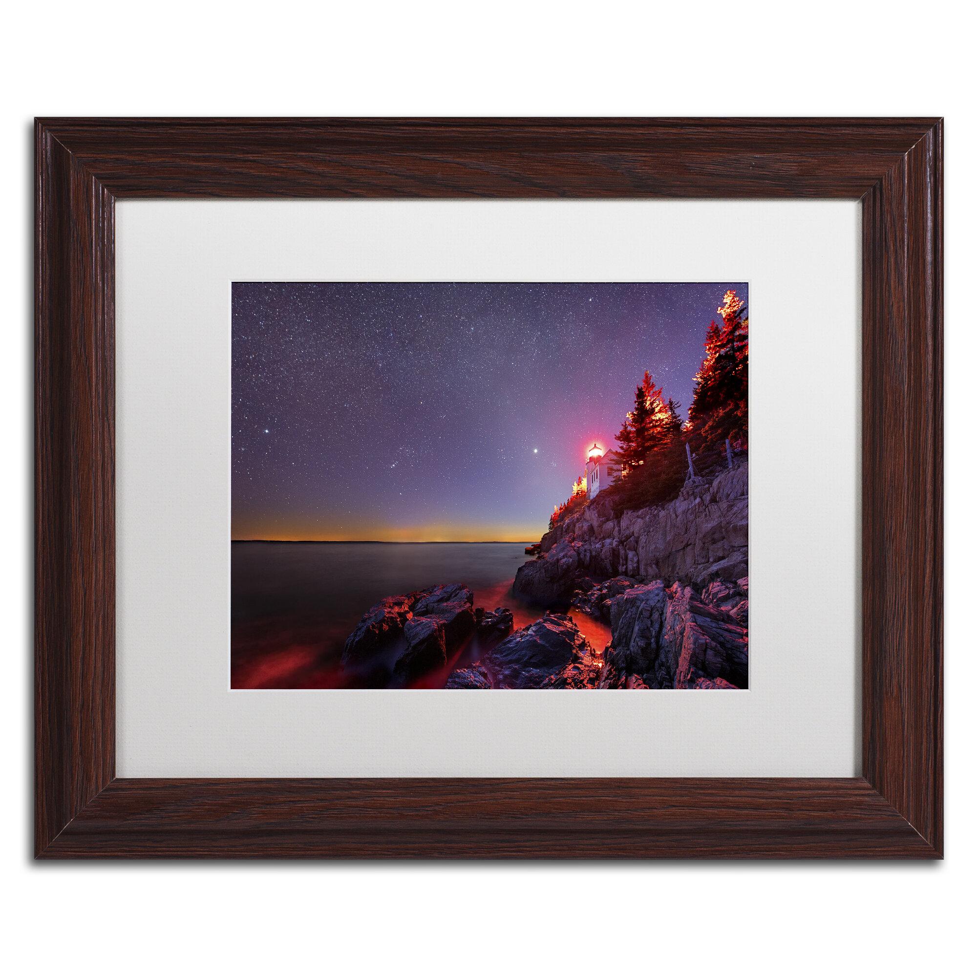 Trademark Art Red Lantern Framed Graphic Art On Canvas Wayfair