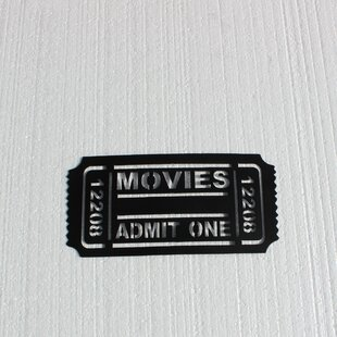 Home Theater Movie Ticket Admit One Metal Wall Décor